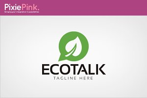 Eco Talk Logo Template