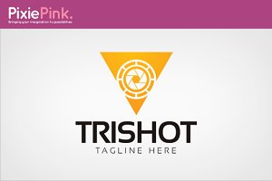 Tri Shot Logo Template