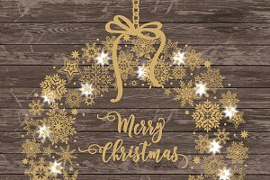 Vector Rustic christmas snowflakes