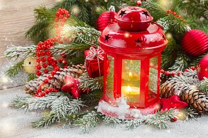 christmas lantern close up