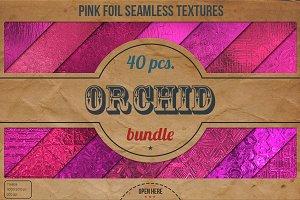Pink Foil Textures XL Bundle