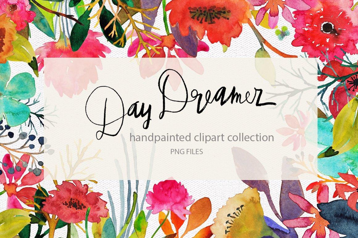 Handpainted Watercolor Flowers Illustrations Creative Market