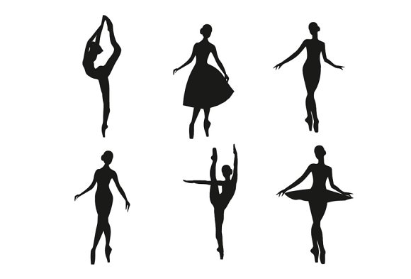 Ballerina silhouette set ~ Illustrations ~ Creative Market