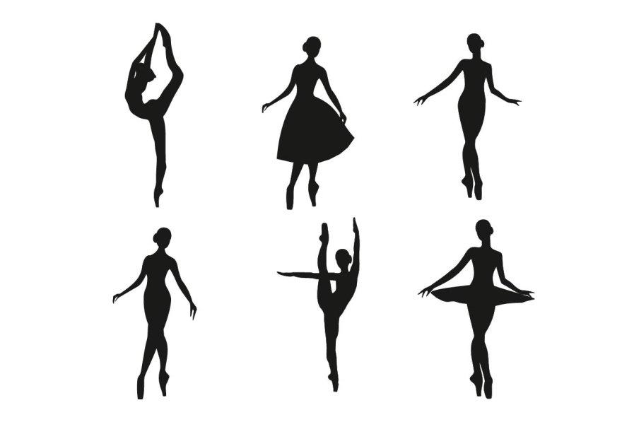 Ballerina Silhouette Set