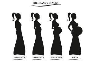 Pregnancy women silhouette