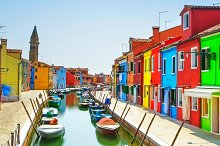 Burano island canal venice italy containing venice, burano, and italy by  in Photos