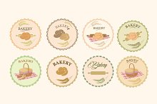 Set of bakery icons, logos, labels