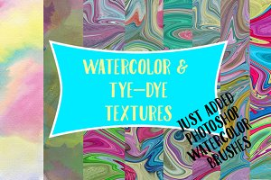 Watercolor and Tye-dye Textures