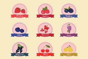 Berries label, badge