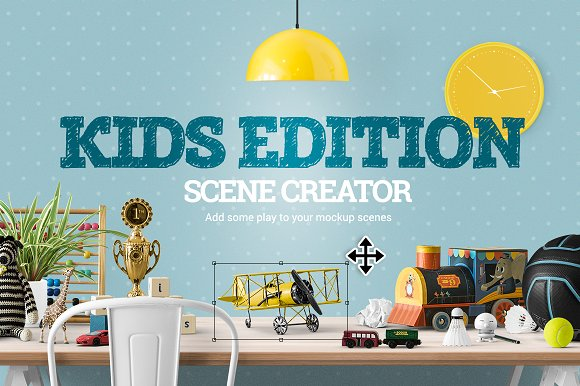 Kids Edition Scene Creator Product Mockups Creative Market