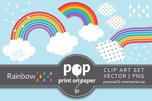 Vector Clip Art - Rainbow