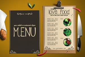 STYLISH food menu