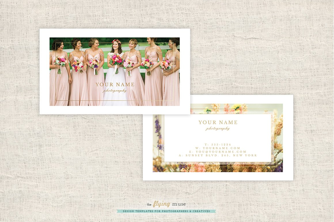 Wedding photographer business cards business card templates wedding photographer business cards business card templates creative market reheart Image collections