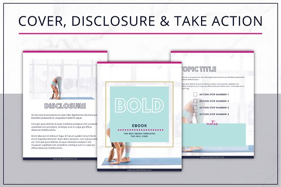 eBook Template  Canva Bold in Magazine Templates - product preview 1