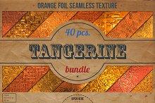 Orange Foil Textures XL Bundle