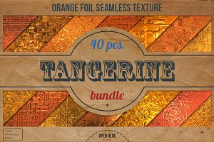 Orange Foil Textures XL Bundle