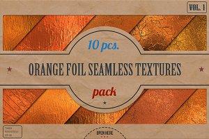 Orange Foil Textures Pack v.1