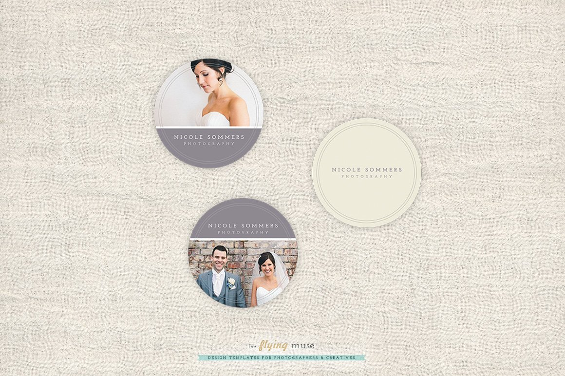 Photography Round Sticker Templates Stationery Templates