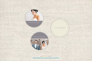 Photography Round Sticker Templates
