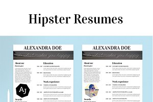 Hipster Resume in 3 Variations