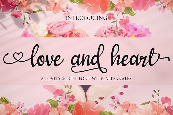 love and heart -Handwritten fonts