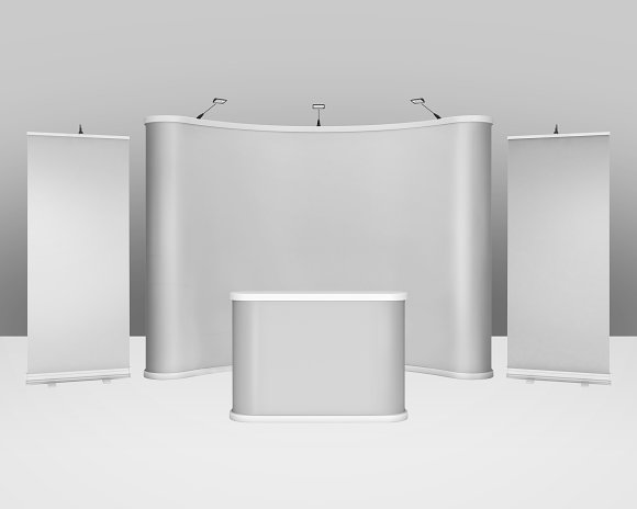 Exhibition Stall Mockup : Trade show exhibition booth mockup ~ mockup templates ~ creative market