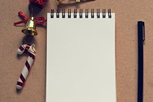 notebook paper christmas ornaments