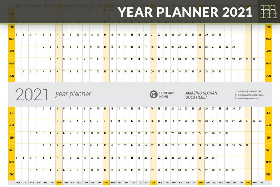 Year Planner 2021 (YP025-21)