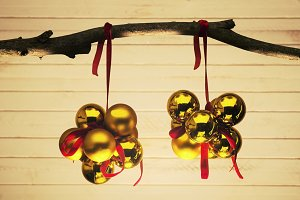 christmas decoration with balls