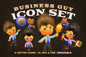Business Guy Icon Set