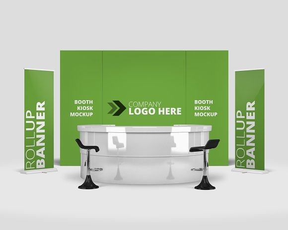 Exhibition Stand Mockup Psd Free : Trade show exhibition booth mockup ~ mockup templates ~ creative market