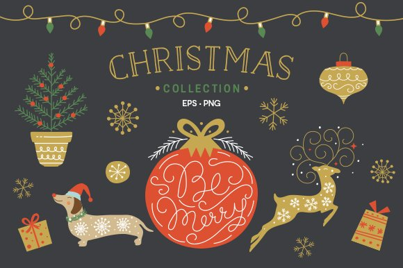 Christmas Collection EPS & PNG in Illustrations