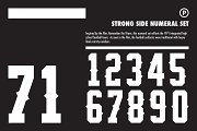 Strong Side Numeral Set