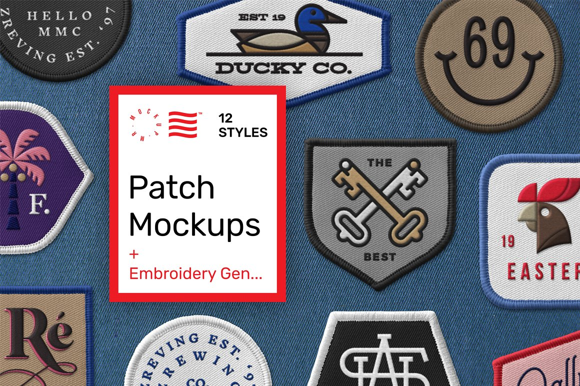 Patch Mockups + Embroidery Generator