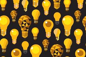 Light Bulbs Seamless Patterns