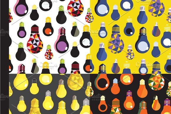 Light Bulbs Seamless Patterns in Patterns - product preview 1