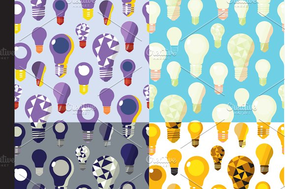 Light Bulbs Seamless Patterns in Patterns - product preview 2