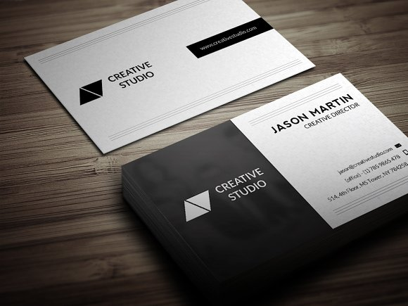 dual backside business card business card templates creative market - Back Of Business Card