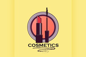 Cosmetics label for design
