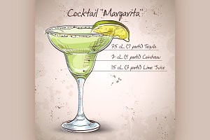 Cocktail alcohol Margarita