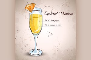 Cocktail alcohol Mimosa
