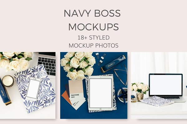 Navy Boss Mockups (18+ Images)