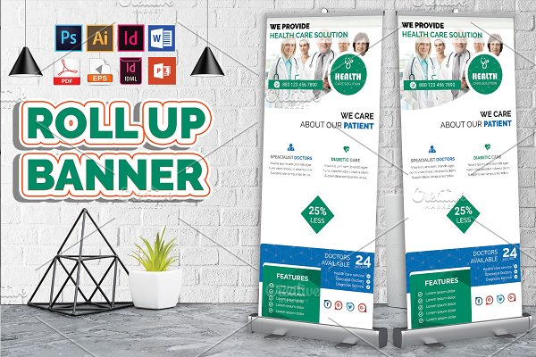 Doctor & Medical Roll Up Banner V-1