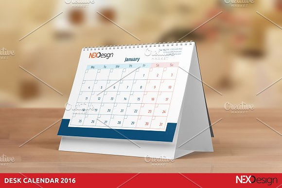 desk calendar 2016 nex stationery templates creative market