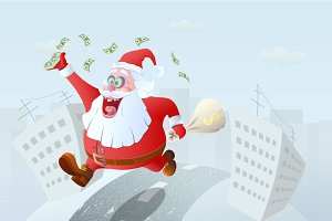 Running Winner Santa Claus