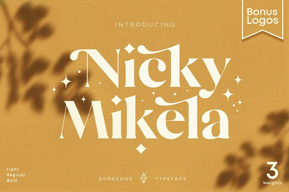 Mikela - 50% OFF Gorgeous Typefaces in Serif Fonts - product preview 44