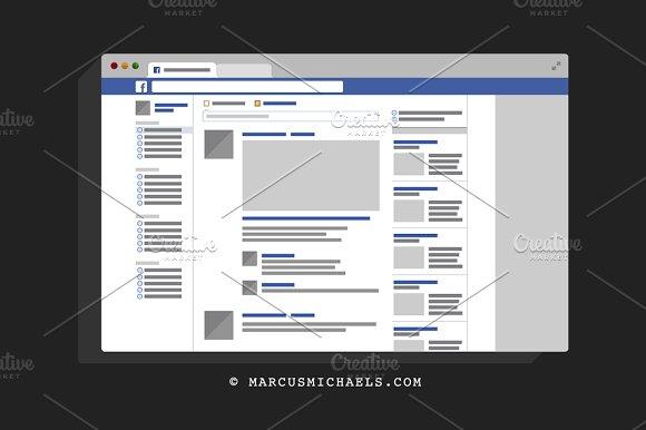Facebook presentation template brettfranklin facebook ui template presentation templates creative market powerpoint templates toneelgroepblik Choice Image