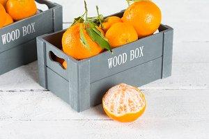 Box of tangerines