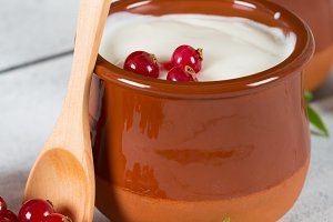 Yogurt with red currant