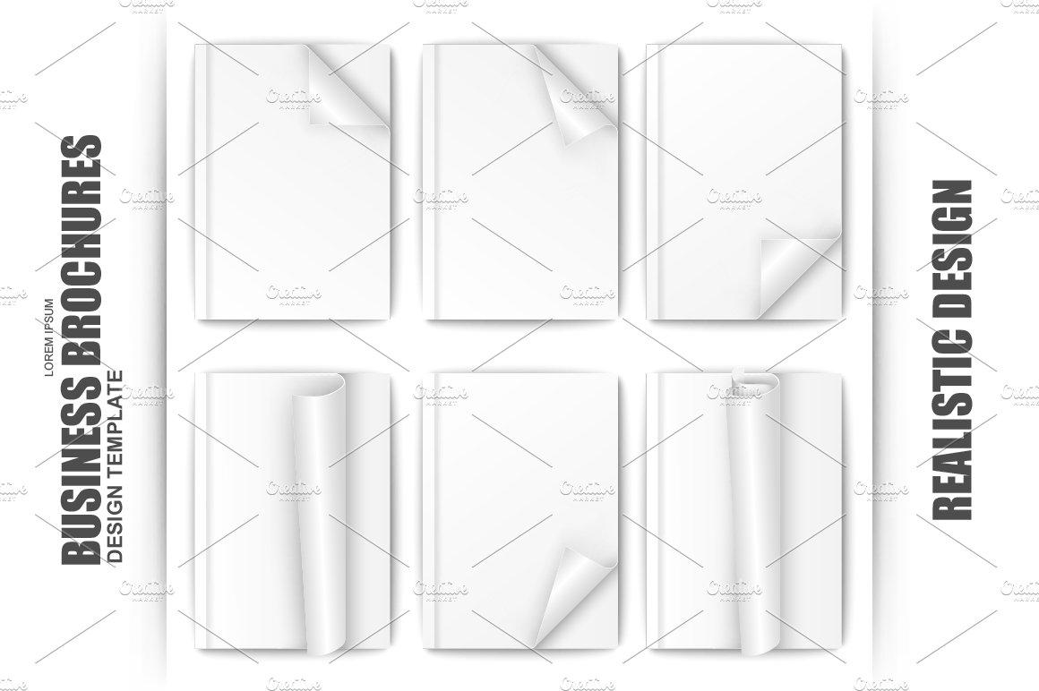 Set Of Blank White Paper Brochure ~ Brochure Templates